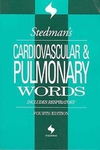 Stedman's Cardiovascular and Pulmonary Medical Words Transcription Book - $14.84