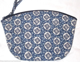 "Vera Bradley ""Indigo"" Small Cosmetic Case Retired Bag - $19.79"