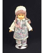 German Tati Doll Handmade Purple Braids Bonnet Traditional Outfit w/Stan... - $16.25