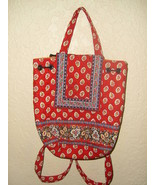 Vera Bradley Red Leaf Mimi Backpack Great Condition! - $32.66