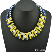 Bohemia Spray Paint Fashion Necklace - $38.99