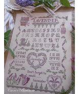 Lavender Sampler cross stitch chart Cuore e Batticuore  - $15.30