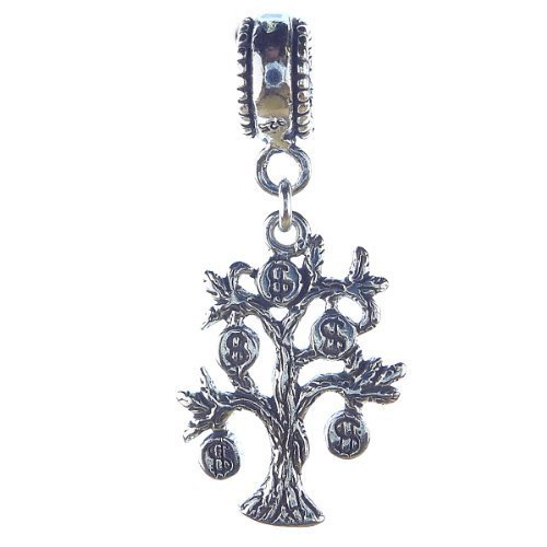 Money Tree Two Sided Sterling Silver Dangle Charm [Jewelry] - $26.59