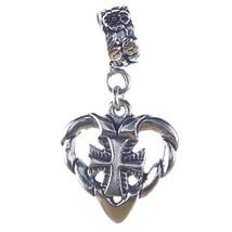 Cross in Heart Sterling Silver Dangle Charm [Jewelry] - $23.99
