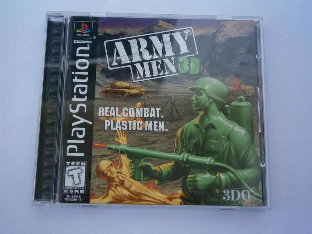 Primary image for Army Men 3D Playstation 1 game complete 3DO 1-2 Players Rated T