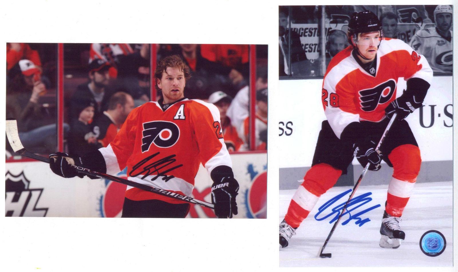 27b66abe5 Claude Giroux Philadelphia Flyers 2 PHOTOS SET 4x6 signed REPRINT  autographed