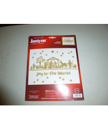 Janlynn Joy to the World Christmas Holiday Metallic Gold Cross Stitch Kit - $45.00