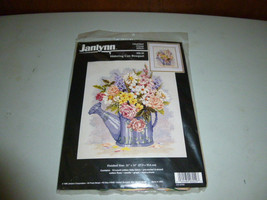 Janlynn Watering Can Bouquet Flowers Counted Cross Stitch Kit - $39.00