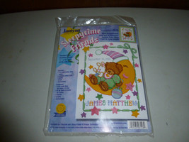 Janlynn Sleepytime Friends Birth Baby Announcement Counted Cross Stitch Kit - $34.00