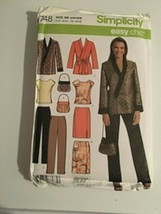 Simplicity Sewing Pattern 4748 Top Jacket Skirt Pant 20W-28W New Package... - $12.62