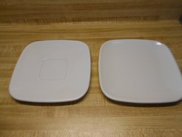 Brookpark modern design white square plates or saucers - $9.45