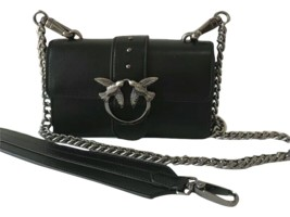 Pinko Mini Love Simply Chic. Smooth Leather Bag Black Authentic - $299.00