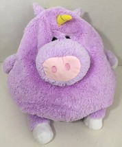 Jay At Play Mushable Unicorn microbead plush pillow purple pink nose yel... - $8.90