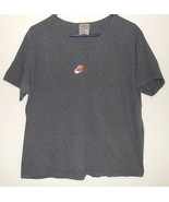 Womens Nike Dark Gray Short Sleeve V Neck Top  Size XL - $4.95