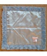 Elegant Baby Blue Minky Swirl Satin 16x16 Mini Security Blanket Lovey - $34.25
