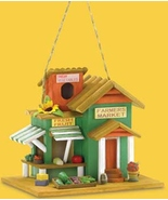 Farmers Market Birdhouse 10 inch Wood with pol... - $7.99