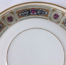 2 Vintage Rosenthal Selb Bavaria Donatello Saucers Green Gold w Pink Flowers - $18.95