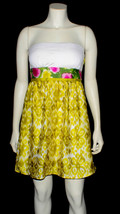 floral strapless dress - $5.00