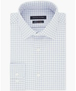 Tommy Hilfiger Azure Blue Check Fitted Th Flex Performance Stretch Dress... - $21.95