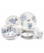 Lenox Butterfly Meadow Blue Dinnerware Set 28 Piece Service For 4 Porcel... - $225.00