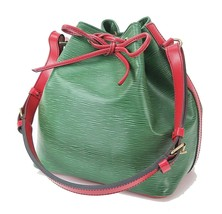 Auth LOUIS VUITTON Petit Noe Green and Red Epi Shoulder Tote Bag Purse #28924 - $445.00