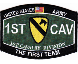 "4.5"" Army 1ST Calvary Division Mos The First Team Embroidered Patch - $23.74"