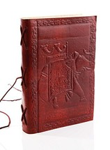 Christmas Gifts Handmade Vintage Genuine Leather Journals to Write in El... - $11.35