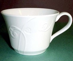 Wedgwood Nature Tea Cup Embossed White Made in U.K New - $19.99