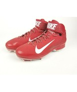 Nike Huarache Pro Mid Men's Size 16 Red & White Baseball Cleats 599235-611 - $38.06