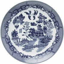 HIC Harold Import (YK-319) Blue Willow Buffet Plate White Porcelain 12.25-In-New - $38.49