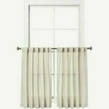 "2pc Honeycomb Weave 36"" X 42"" Curtain Panels w/Back Tabs Gray Threshold NIOP - $18.76"
