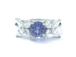 Tiffany & Co Platinum Victoria Diamond Tanzanite Ring 2.26CT PT950 - $7,870.50
