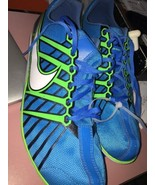 NEW Mens 13 NIKE ZOOM RIVAL D 6 Blue Green Mid-Long Distance Track Spike... - $50.44