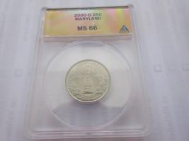 2000-D , Washington Quarter , Maryland , ANACS , MS 66 - $29.70