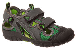 Boys Shoes Grosby Samuel Jnr Covered Toe Grey/Green or Black 7-12 - $24.36