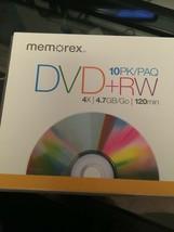 MEMOREX 10 PK DVD+ RW DISC - $24.14
