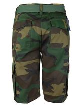SW Men's US Force Military Army Multi Pocket Camouflage Cargo Shorts with Belt image 4