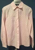 Talbots Womens 12 Blouse Wrinkle Resistant Pink Stripe Button Down Shirt A21 - $15.83