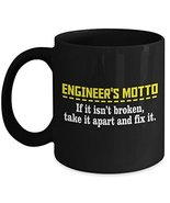 Engineer Coffee Mug - Ceramic Cup - Funny Engineering Motto Novelty Gifts - $14.95+