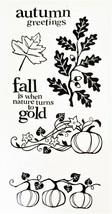Fall Season Stamp Set - 6 Pieces - Scrapbooking - Card Making