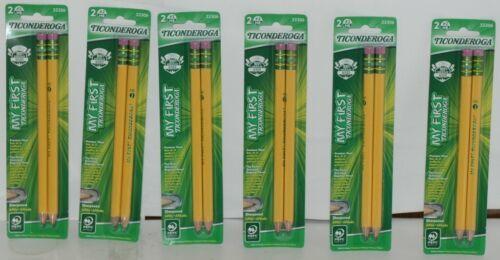 Dixon Ticonderoga 33306 My First Wood Oversized Sharpened Pencils HB 2 Box 6