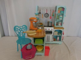 American Girl Gourmet Kitchen Set loaded with Accessories  Retired  - $209.90