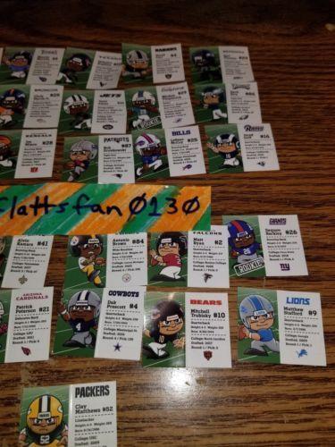 2018 POCKET PROFILE NFL TEENYMATES SERIES 7 FOOTBALL - PICK YOUR FOOTBALL TEAM