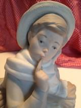 Lladro Porcelain Shepherd Boy Sitting w/ Bird #4730 Retired Figurine  Hand Made - $59.39