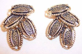 Vintage Sarah Coventry Gold Tone Oval Cascade Clip-On Earrings - $9.99