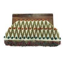 Sun Society Amalia Bohemian Wood Top Clutch Fashionable Premium Handbag - $57.76