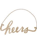 PBK New Years Decor - Cheers Gold Glitter Ornament - $7.95