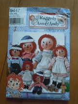 Vintage Simplicity Raggedy Ann & Andy Dolls Pattern #9447 Unused - $5.99