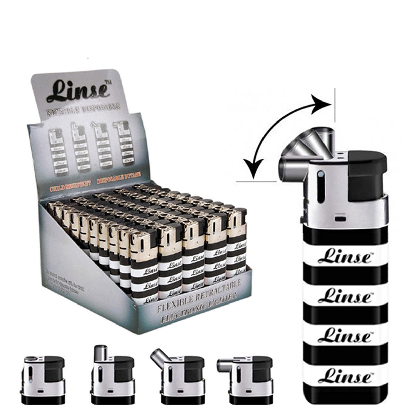 6 Pack Linse Lighters Flexible Swivel Nozzle Linse Disposable Butane Lighter
