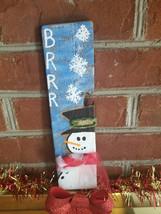 Handpainted snowman pallet board - $10.00